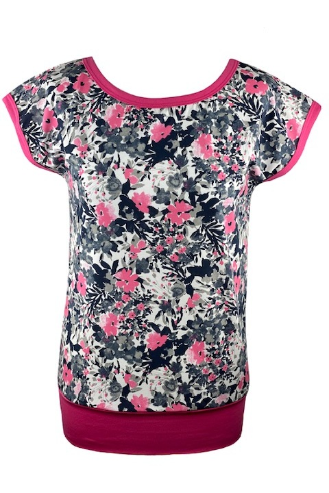 T-shirt Carri Gray/Pink Flowers and Pik