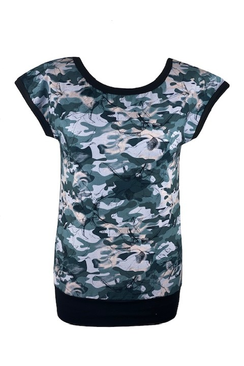 T-shirt Carri Gray Army and Black