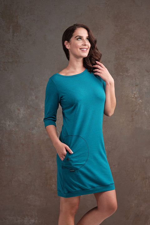 Dress Cejlon Turquoise Melange