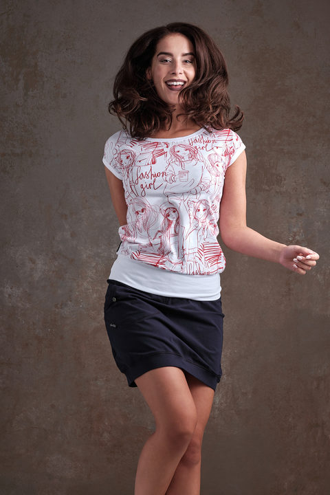 T-shirt Carri White/Red Fashion Girl and White