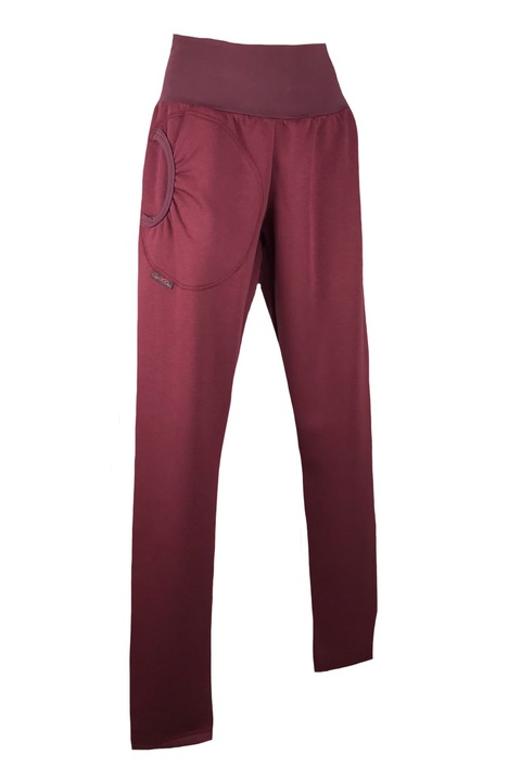 Pants Warm Long Bordeaux Red