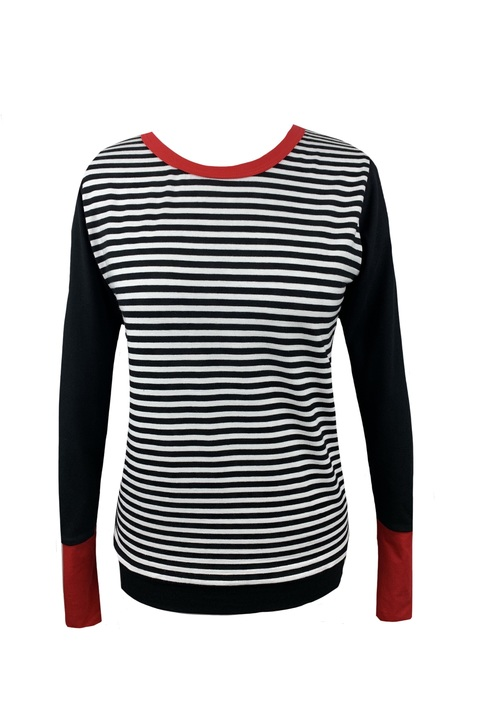 BOOm Black and Black/White Stripes and Red
