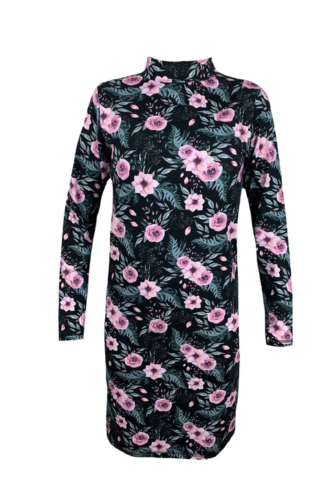 Dress Island Black/Pink Flowers