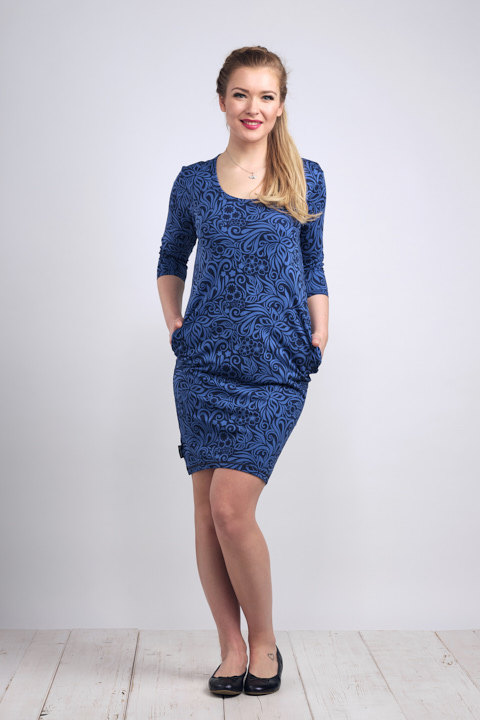 Dress Ibiza Royal Blue and Jungle