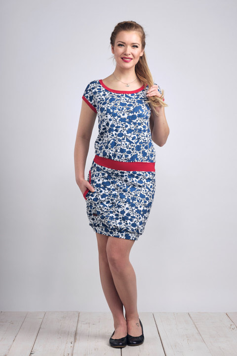 Dress Bali Blue Fairytale and Red