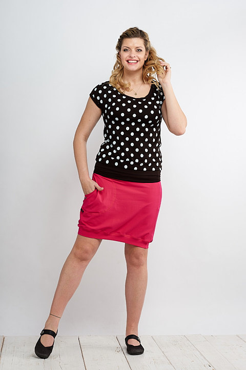 T-shirt Black/White Dots