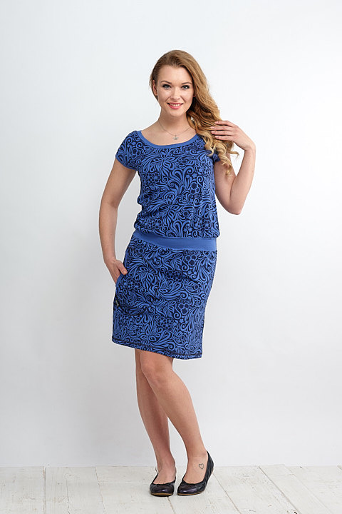 Dress Bell Royal Blue and Jungle-SLEVA