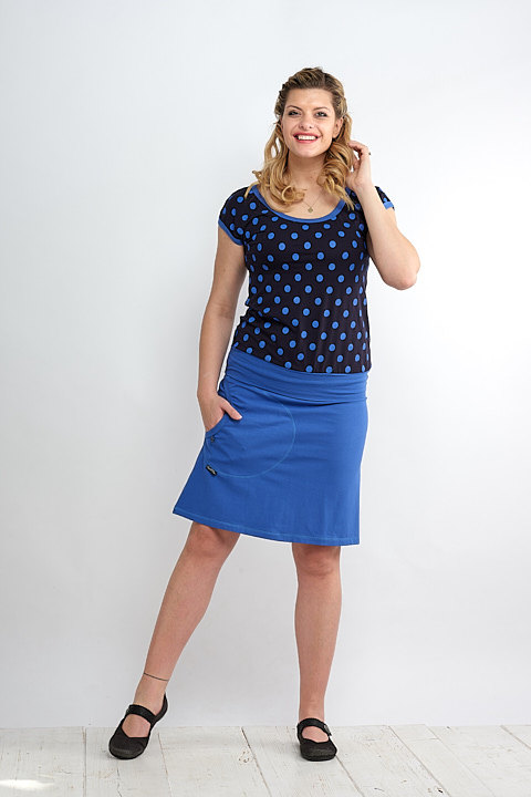 T-shirt Carri Blue and Blue Royal Dots