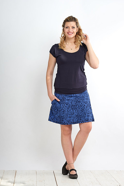 Skirt Bell Royal Blue Jungle