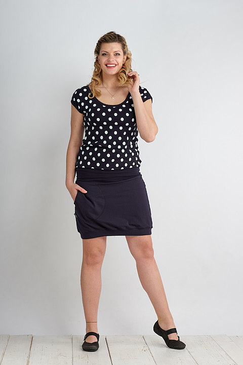 T-shirt Carri Blue/White Dots