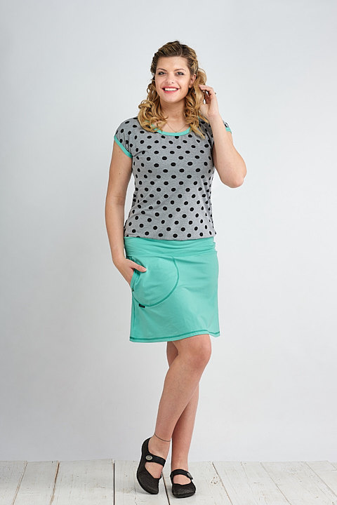 Carri Gray/Black Dots and Mint
