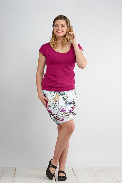 Skirt Carri Wildflowers and Fuchsia