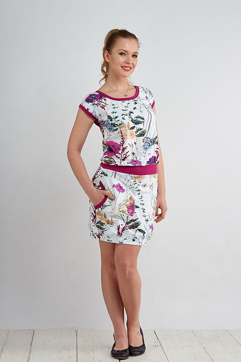 Dress Bali Wildflowers and Fuchsia