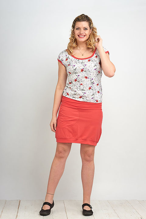 Skirt Carri Salmon
