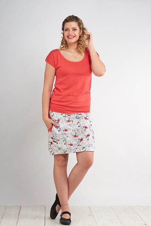 Skirt Carri Florets and Salmon