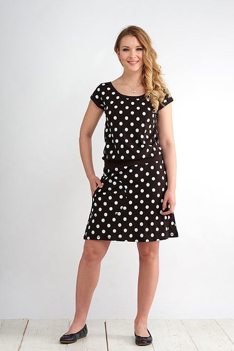 Dress Bell Black/White Dots