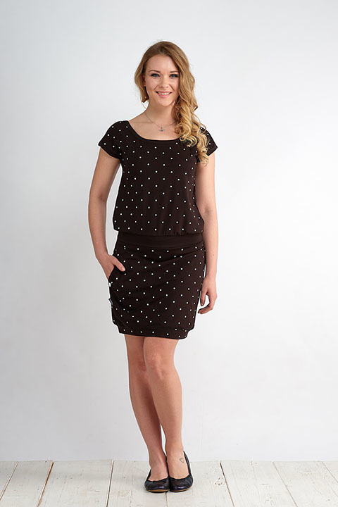 Dress Bali Black/White Big Dots