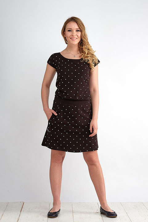 Dress Bell Black/White Big Dots