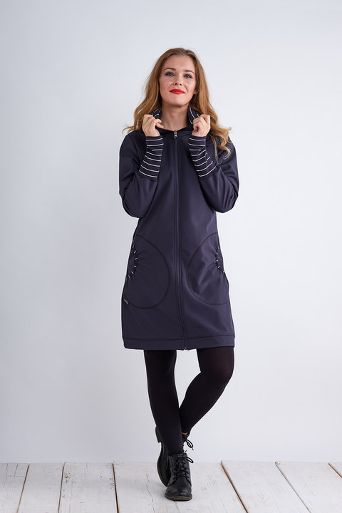 Coat Softshell Blue/Blue Stripes