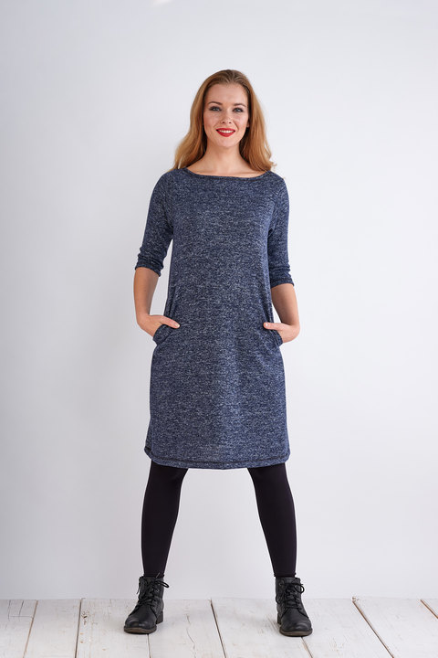 Dress Madeira Warm Blue Melange-SLEVA