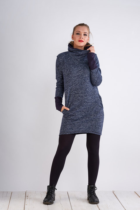 Tunic Warm Blue Melange/Blue