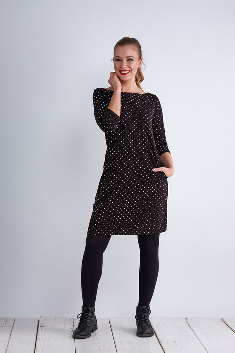 Dress Madeira Black/White Mini Dots