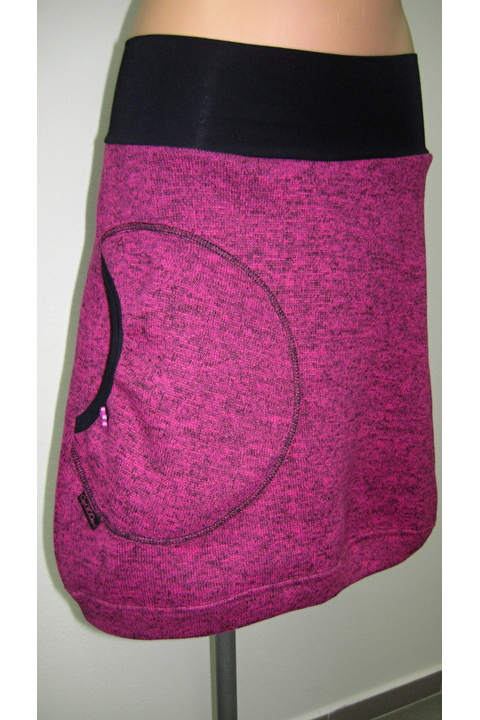 Skirt Warm Pink and Pink
