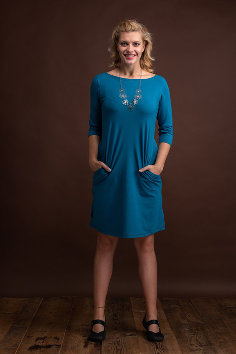 Dress Madeira Petrol Blue