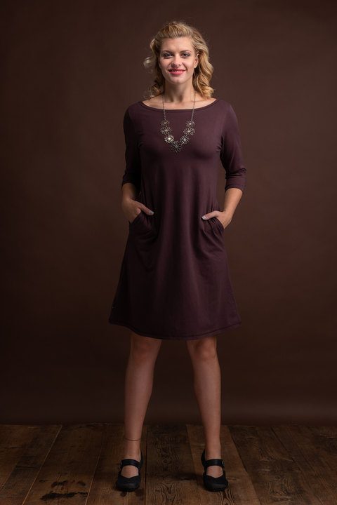 Dress Madeira Dark Brown