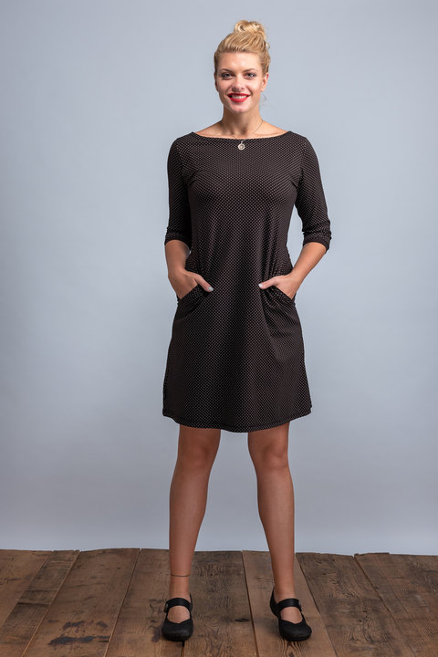 Dress Madeira Black/Gray Dots