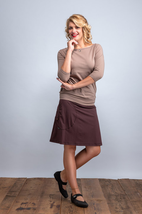 Skirt Bell Dark Brown