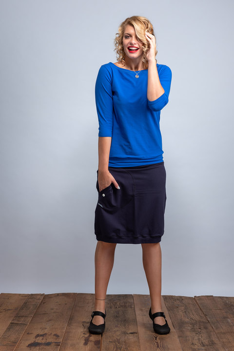 Skirt Long Dark Blue