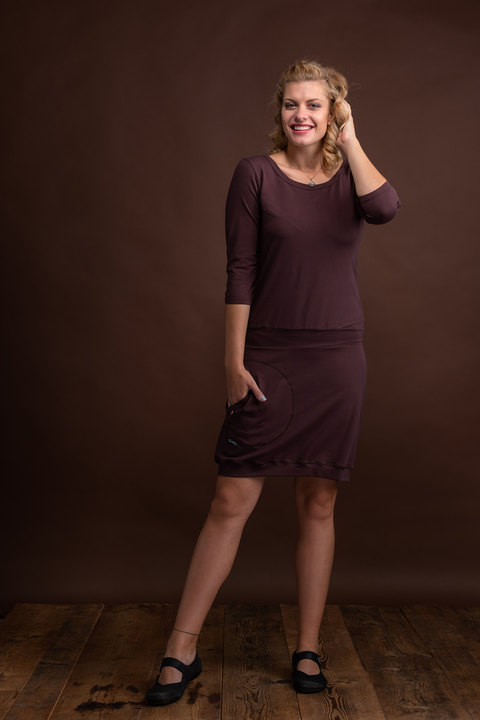 Dress Carrie Dark Brown