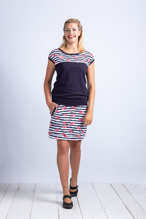 Skirt Blue/Minnie and Stripes