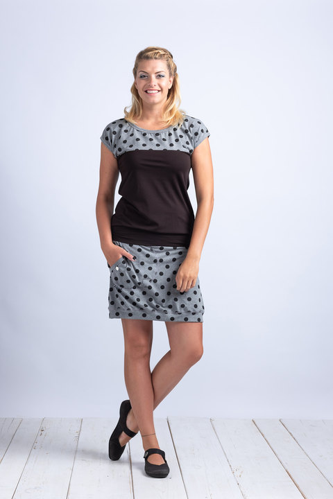 Skirt Gray/Black Dots