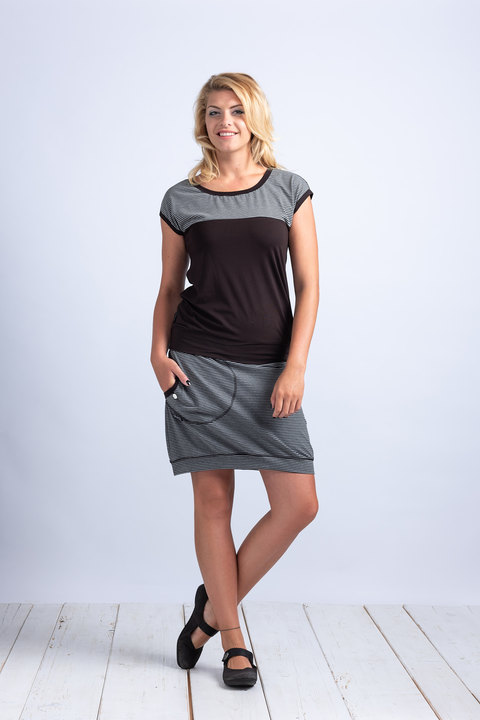 Skirt Gray/Black Thin Stripes