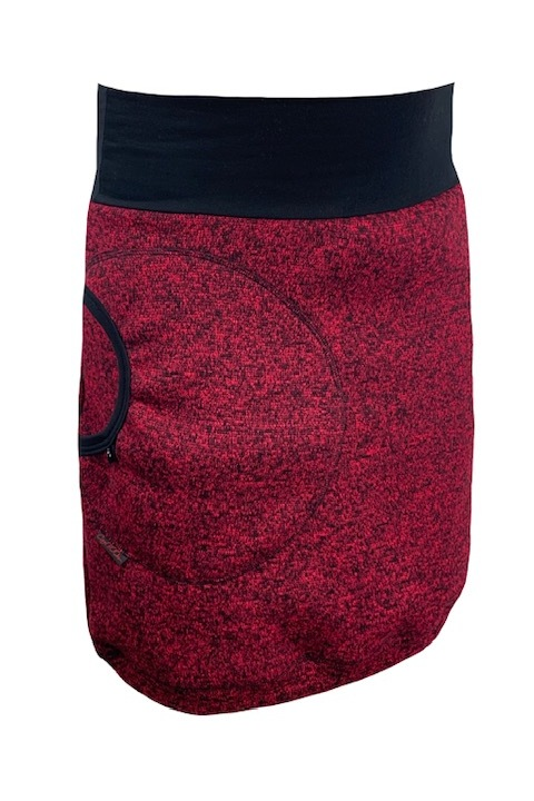 Skirt Warm Red/Black Melange