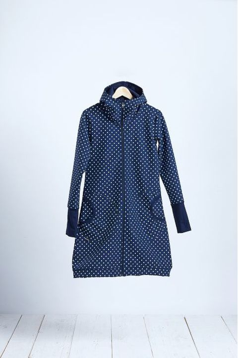 Coat Softshell Blue/White Dots