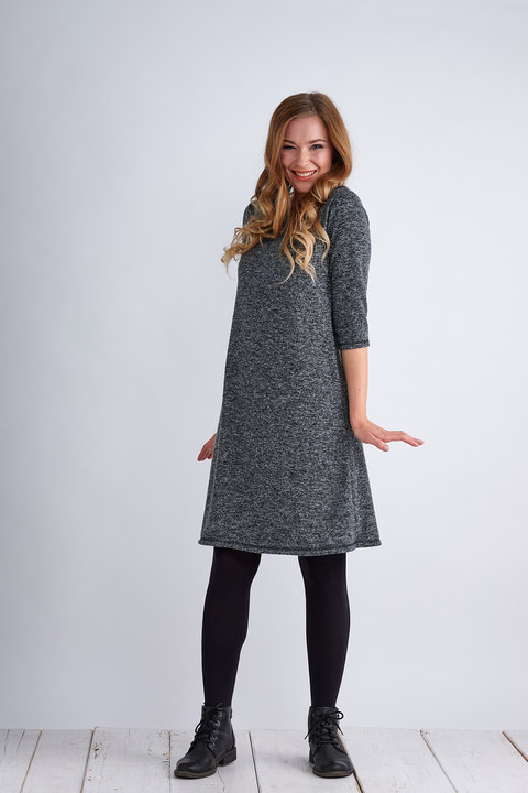 Dress Madeira Warm Gray Melange-SLEVA