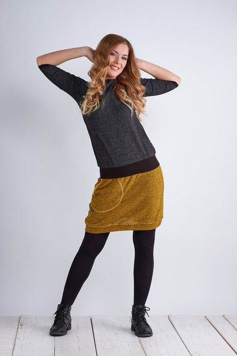 Skirt Warm Mustard Melange