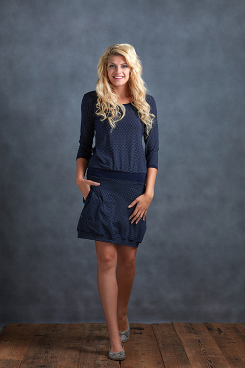 Dress Sleeve Blue/Gray Dots