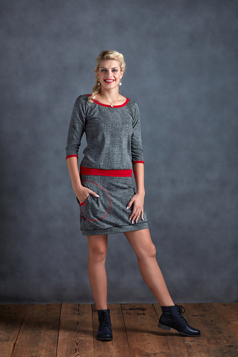 Dress Sleeve Black/Gray and Red