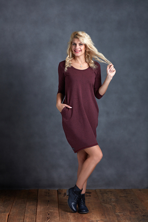 Dress Ibiza Bordeaux Red