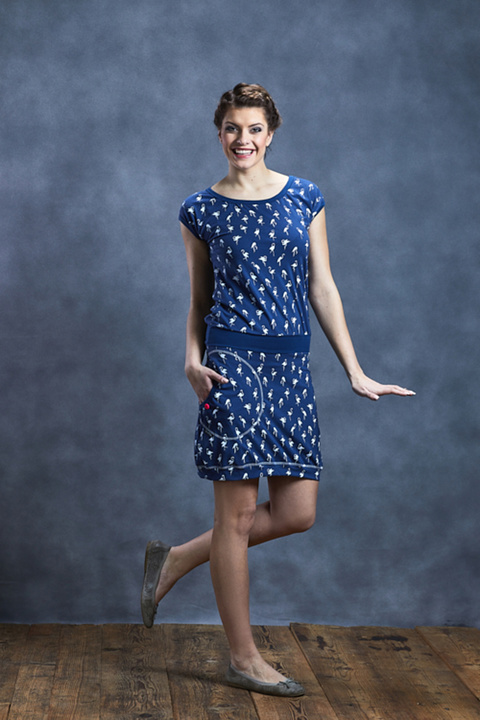 Dress Sapphire Blue/White Flamingo