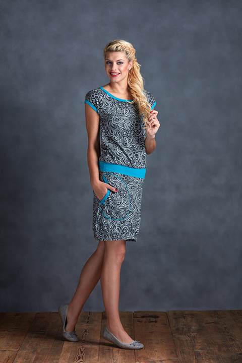 Dress Jungle and Turquoise
