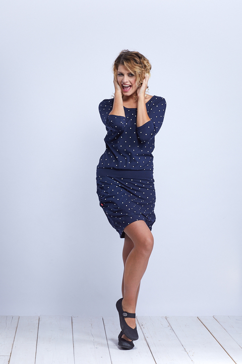 Dress Sleeve Blue/Big Dots