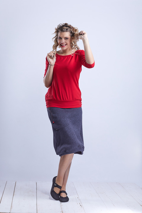 Skirt Warm Long Dark Gray