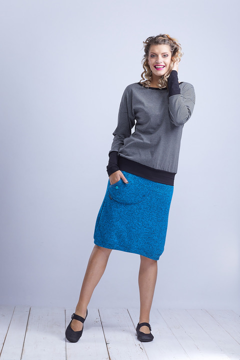 Skirt Warm Long Dark Turquoise