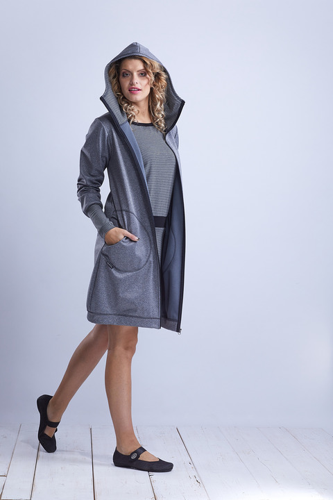 Coat Softshell Gray and Gray Stripes
