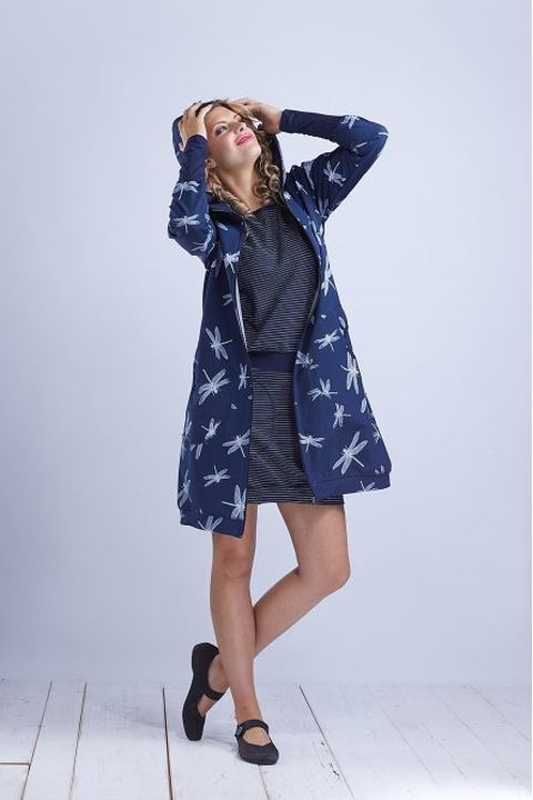 Coat Softshell Blue/White Dragonfly